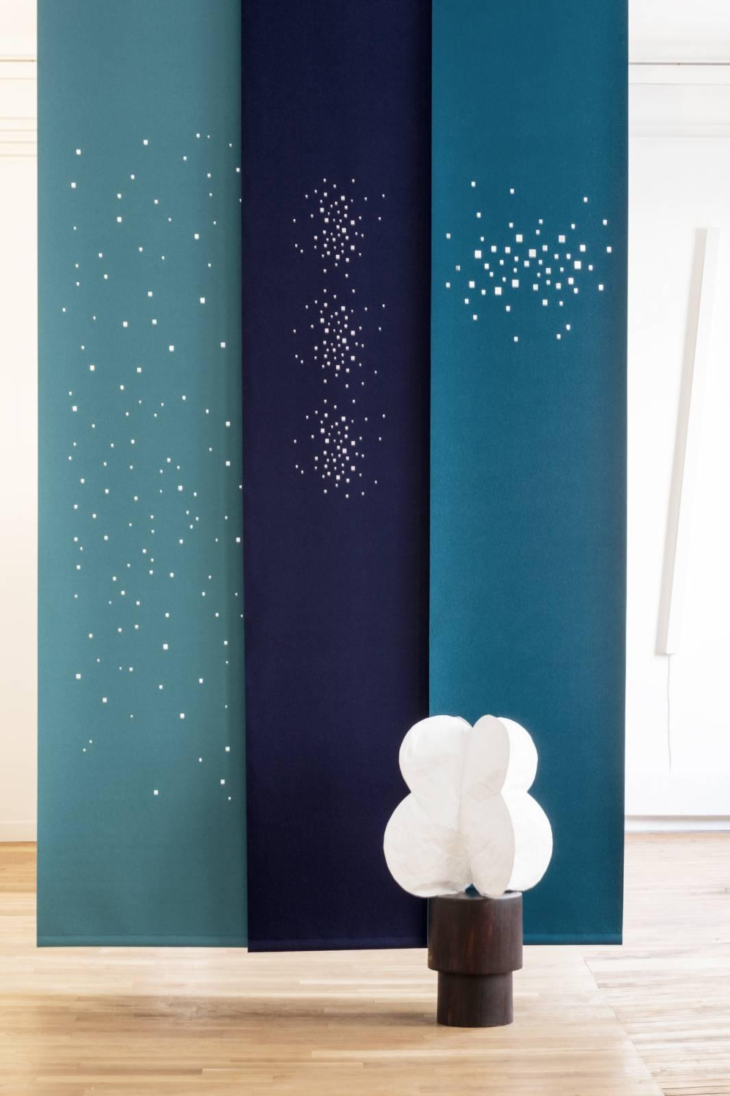 """Namad"" sliding panels - Acoustic Felt - Lights"