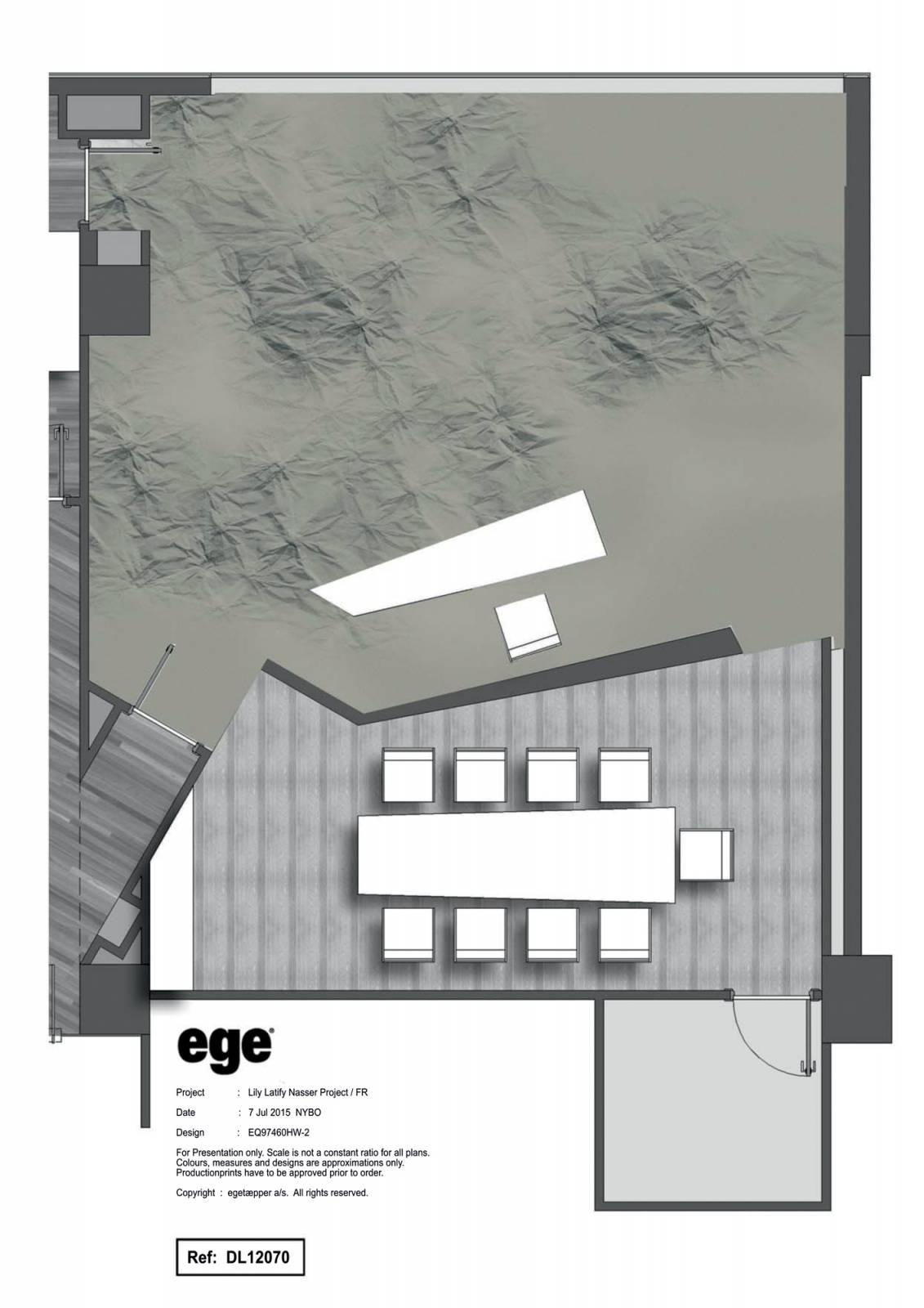 """""""Mina"""" custom trompe l'oeil rug - example 3"""