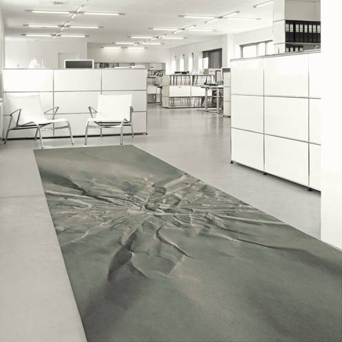 """Geo"" custom trompe l'oeil carpet - example 2"