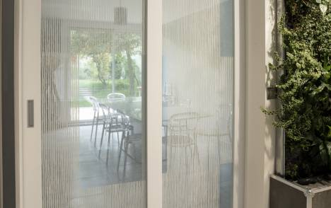 "Transparent glass panels : ""Siesta V"" white - 2"