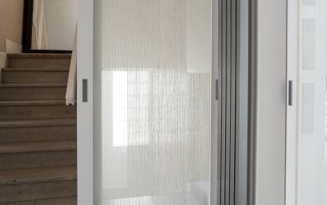 "Transparent glass panels : ""Siesta V"" white - 3"