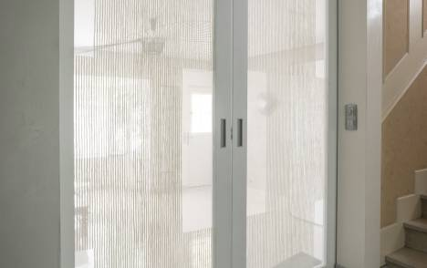 """Parois en verre transparentes : """"sieste vertical"""" blanc"""