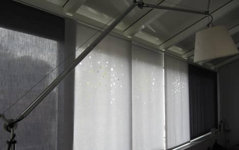 """Panneaux japonais translucides """"Lumières de la ville"""" - exemple de réalisation 1"""