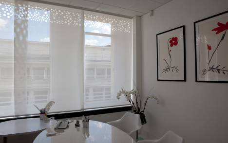"""Bubbles"" sun screen sliding panel : executive office - Paris - 1"