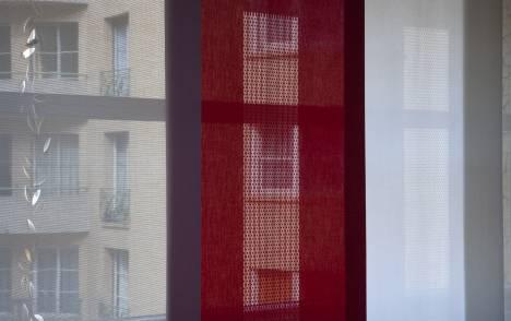 """Panneaux japonais translucides """"Gouttes de pluie"""" - exemple de réalisation 3"""