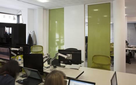 """Panneaux japonais translucides """"Petites fenêtres"""" - exemple de réalisation 3"""