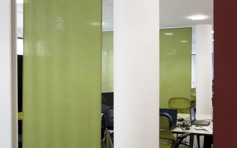 """Panneaux japonais translucides """"Petites fenêtres"""" - exemple de réalisation 4"""