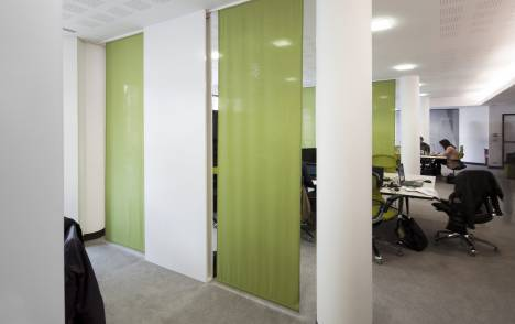 """Panneaux japonais translucides """"Petites fenêtres"""" - exemple de réalisation 5"""