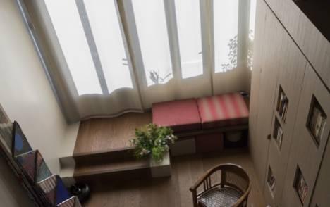 """Panneaux japonais translucides """"Nuage de traits"""" - exemple de réalisation 7"""