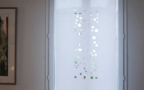 """Panneaux japonais translucides """"Bulles de savon"""" - exemple de réalisation 10"""