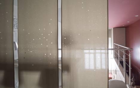 """Panneaux japonais translucides """"Voie lactée"""" - exemple de réalisation 9"""