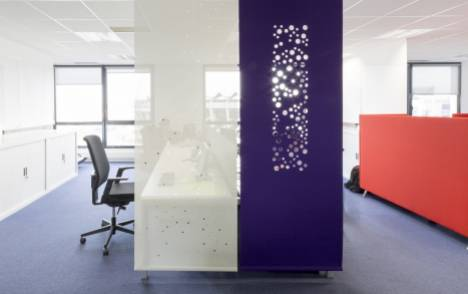 """Bubbles"" acoustic sliding panel - example 4"