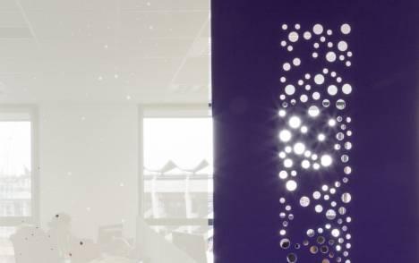 """Panneaux japonais occultants """"Bulles de savon"""" - exemple de réalisation 1"""