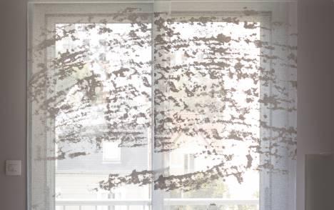 """Panneaux japonais transparents """"Céleste 2"""" - exemple de réalisation 4"""