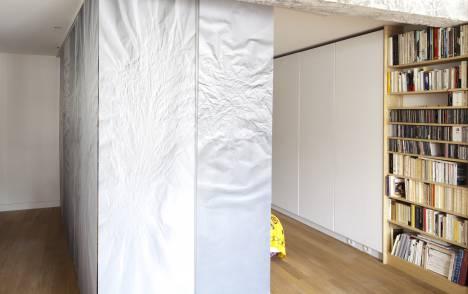 """Geo"" trompe l'oeil sliding panel - example 2"