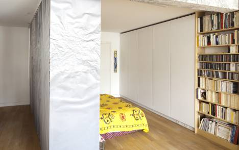 """Geo"" trompe l'oeil sliding panel - example 3"