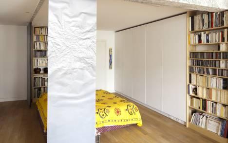 """Geo"" trompe l'oeil sliding panel - example 4"