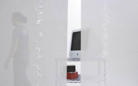 """Panneaux japonais écrans solaires """"Guirlande de feuilles"""" - exemple de réalisation 1"""