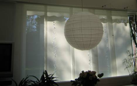 """Panneaux japonais écrans solaires """"Guirlande de feuilles"""" - exemple de réalisation 3"""
