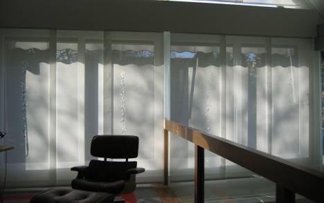 """Panneaux japonais écrans solaires """"Guirlande de feuilles"""" - exemple de réalisation 7"""