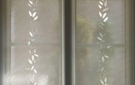 """Panneaux japonais écran solaire """"Guirlande de feuilles"""" - exemple de réalisation 10"""