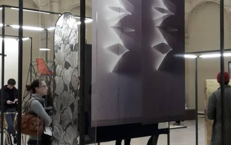 """""""Jasmin"""" trompe l'oeil sliding panel - example 3"""
