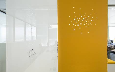 """""""City lights"""" acoustic sliding panel - example 1"""