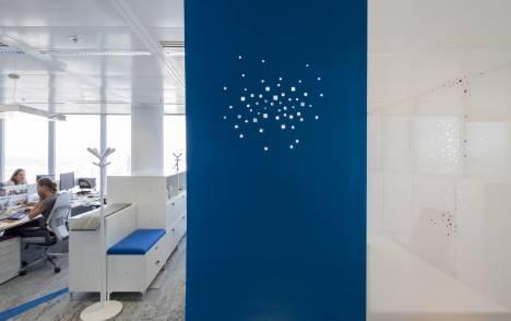 """Panneaux japonais acoustiques """"Lumières de la ville"""" - exemple de réalisation 5"""
