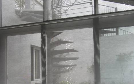 """Little windows"" sun screen sliding panel - example 1"