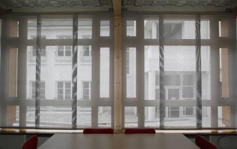 """Little windows"" sun screen sliding panel - example 5"