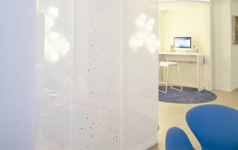 """Panneaux japonais translucides """"Voie lactée"""" - exemple de réalisation 1"""