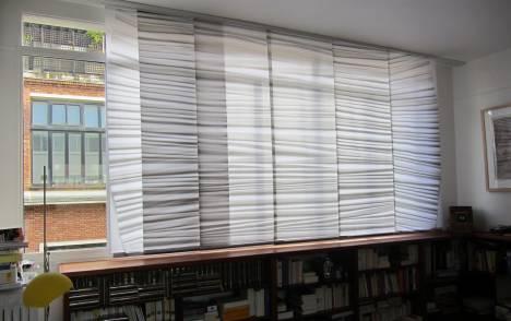 """Panneaux japonais trompe l'oeil """"Plissé"""" - exemple de réalisation 3"""