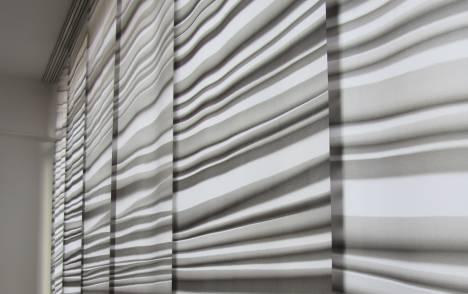 """Panneaux japonais trompe l'oeil """"Plissé"""" - exemple de réalisation 4"""
