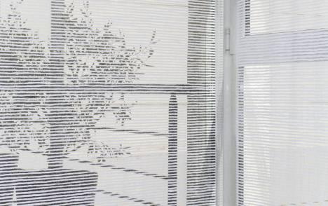 """Siesta H"" transparent sliding panel - example 4"
