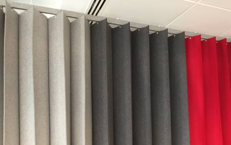 Pleating-panel-in-3-colours-grey-charcoal-red