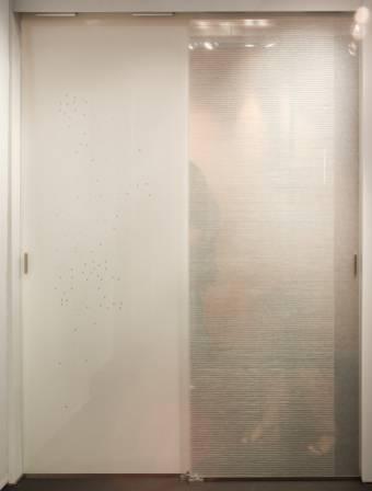 Parois en verre transparente-1