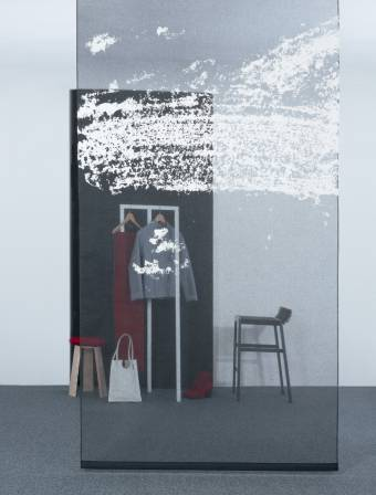 """Celeste 1"" transparent sliding panels"
