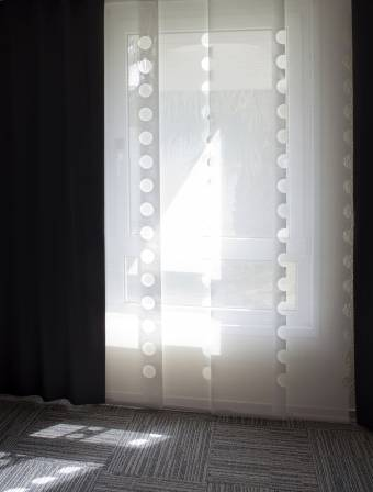 """The note book"" sun screen sliding panels"