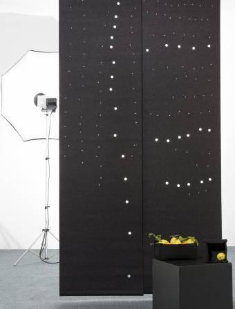 """Fireflies"" acoustic sliding panels"
