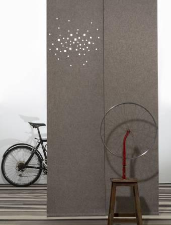 """City lights"" acoustic sliding panels"