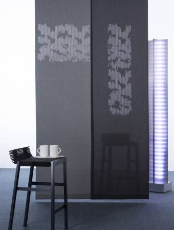 """Panneaux japonais translucides """"Nuage de traits"""" - 1"""