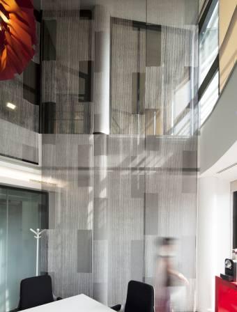 """Panneaux japonais transparents """"Sieste V"""""""