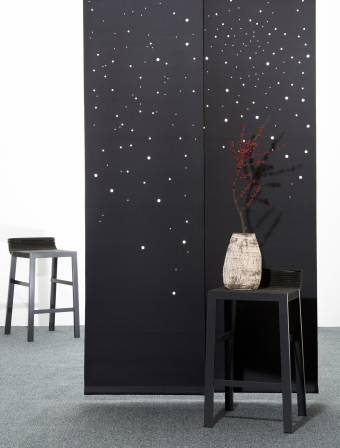 """Milky way"" acoustic sliding panels"