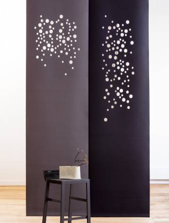 """Namad"" sliding panels - Acoustic Felt - Bubbles"