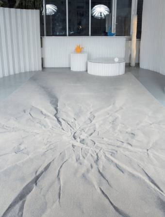 """Geo"" custom trompe l'oeil carpet"