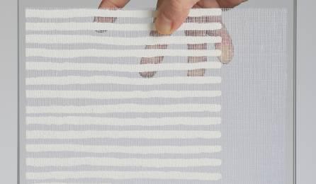 """Parois en verre transparentes """"sieste blanc"""" : fabrics"""