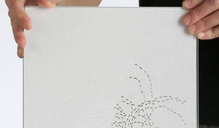 """Parois en verre translucide """"chemin infini"""" : matière"""