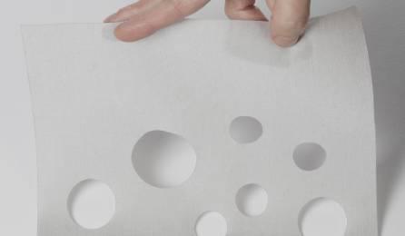 """Tissu """"Bulles de savon"""" translucide pour panneaux japonais"""