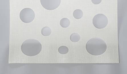 """Tissu """"Bulles de savon"""" écran solaire pour panneaux japonais : 86 blanc"""