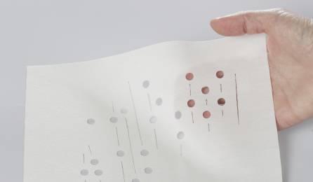 """Tissu """"Nuage de fleurs"""" translucide pour panneaux japonais"""